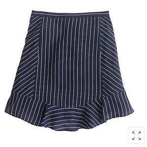 J.CREW Swing Skirt in Pinstripe